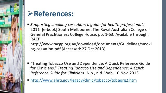supporting smoking cessation a guide for health professionals