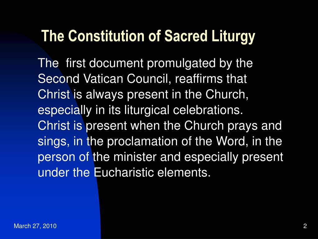 constitution on the sacred liturgy study guide